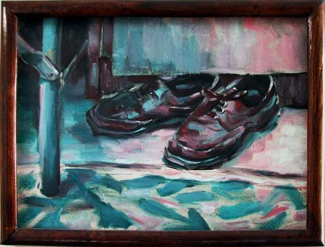 Shoes Painting - Shoes by Mehrdad Sedghi