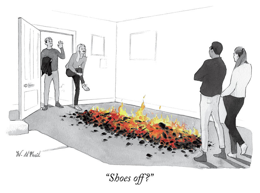 Shoes Off Drawing by Will McPhail