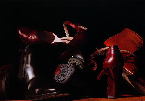 Still Life Painting - Shoes by Toby Boothman