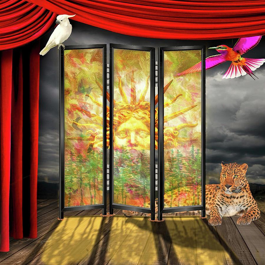 Shoji Screen Sunrise by Bill Johnson