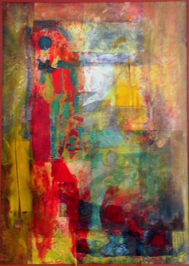Abstract Painting - Shoot The Moon by John Vandebrooke