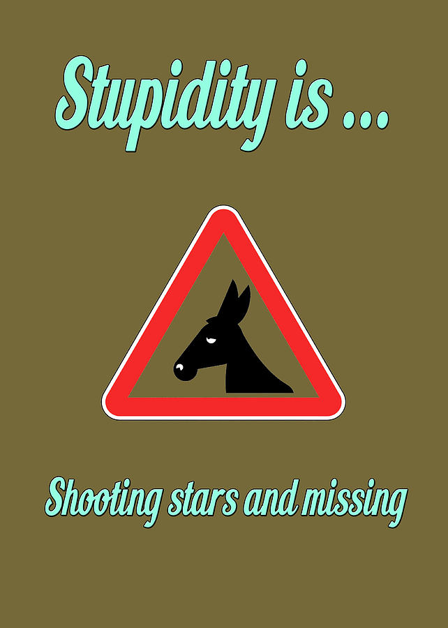 Funny Digital Art - Shooting Bigstock Donkey 171252860 by Mitchell Watrous