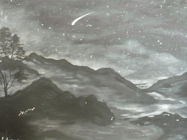 Winter Painting - Shooting Star  by Irina Astley