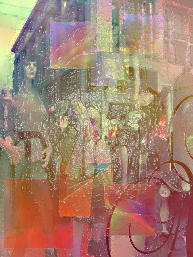 City Digital Art - Shop-window  by Agnes V