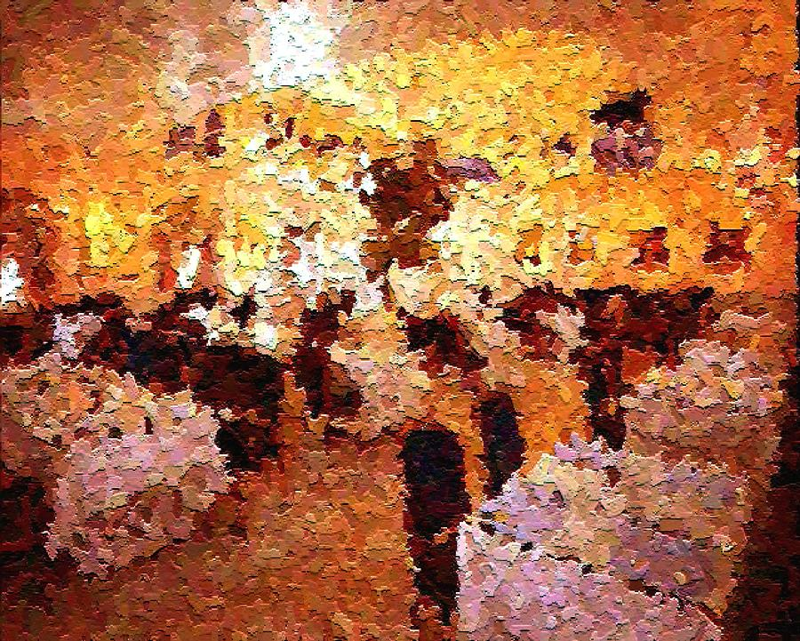 Abstract Painting - Shoppers In The Gallery by Don Phillips