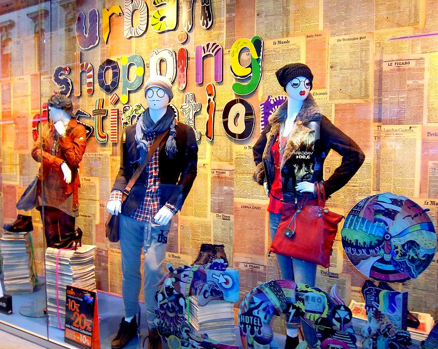 Mannequins Photograph - Shopping In Pisa by Caroline Stella