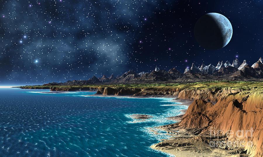 Shore And Ocean Digital Art - Shore And Ocean by Heinz G Mielke