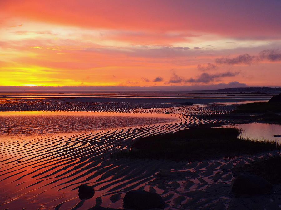 Sunrise Photograph - Shore Lines by Dianne Cowen