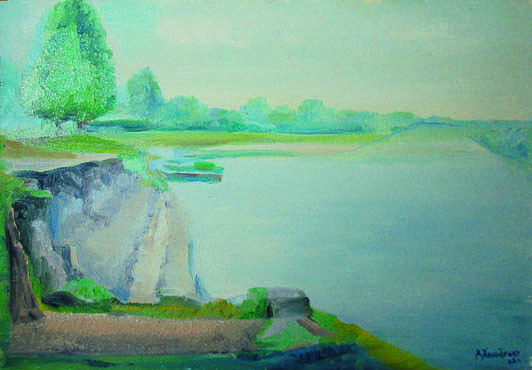 Shore Painting - Shore Of Desna by Kholostenko