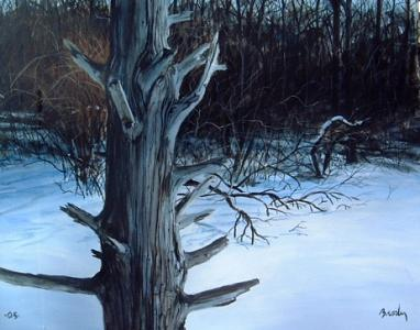 Landscape Painting - Shore Of Winter by William Brody