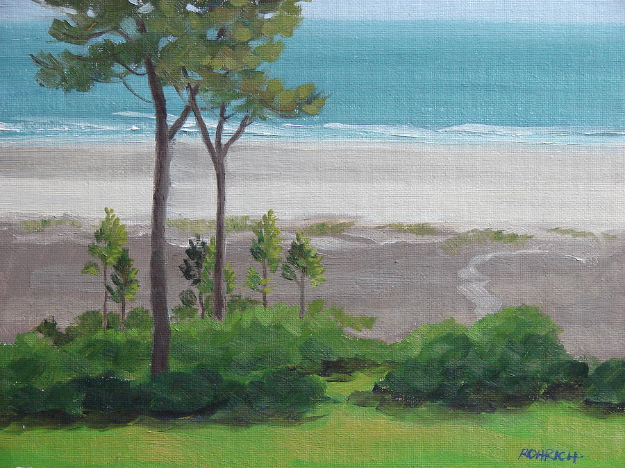 Ocean Painting - Shore Pines by Robert Rohrich