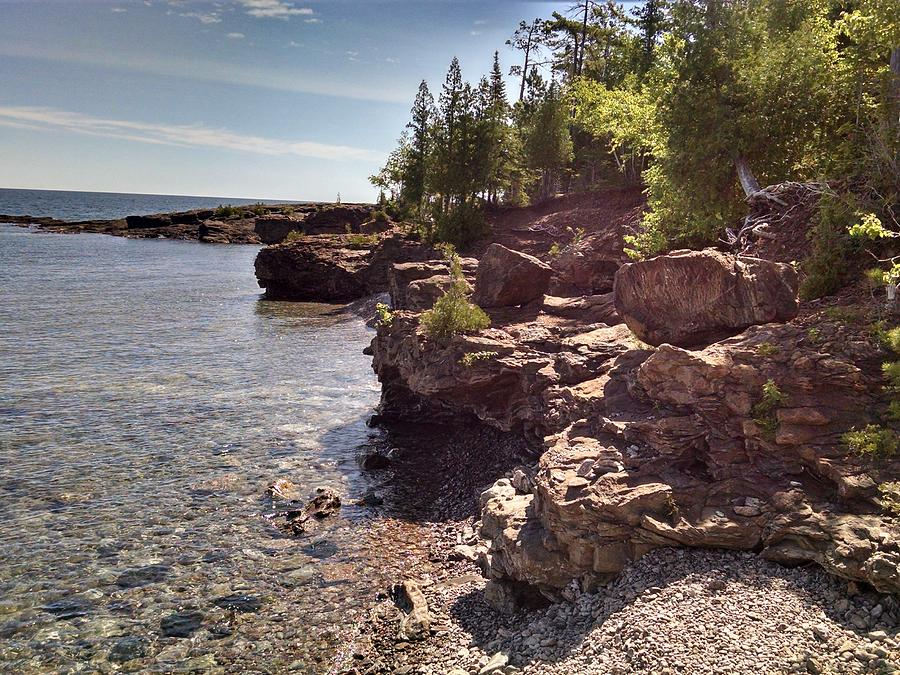 Shoreline in the Upper Michigan by Alan Casadei