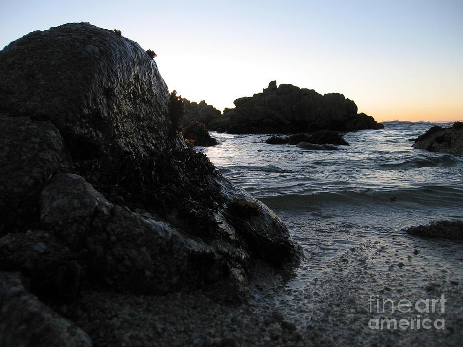 Shoreline Monolith Color Photograph