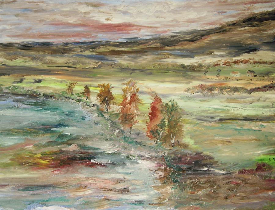 Landscape Painting - Shoreline Park by Edward Wolverton