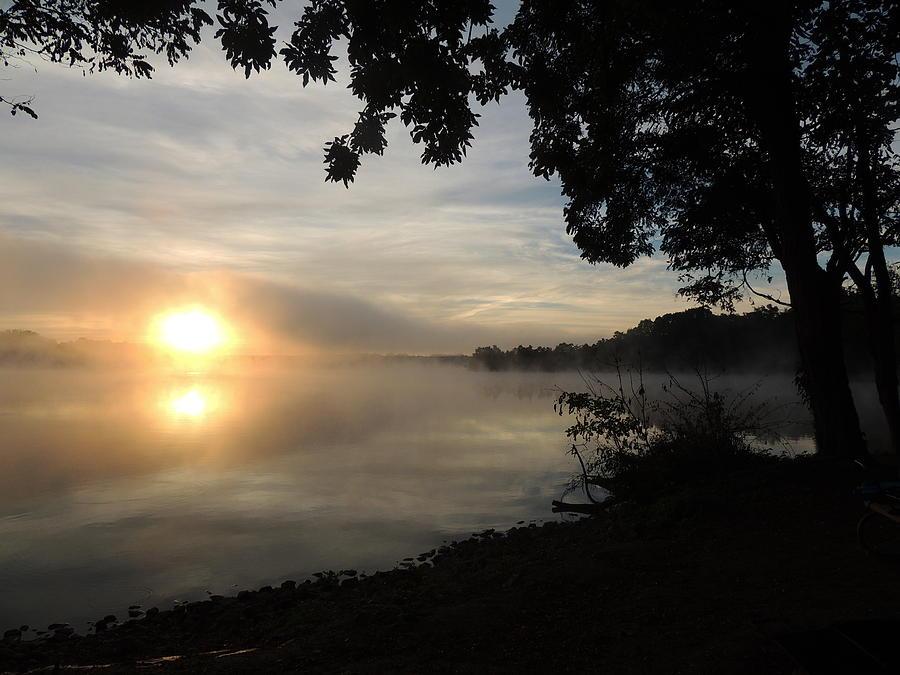 Sunrise Photograph - Shoreline Sunrise by Adlai Neubauer