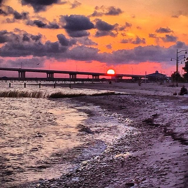 Bridge Photograph - Shoreline Sunset #sunset #beach #water by Joan McCool