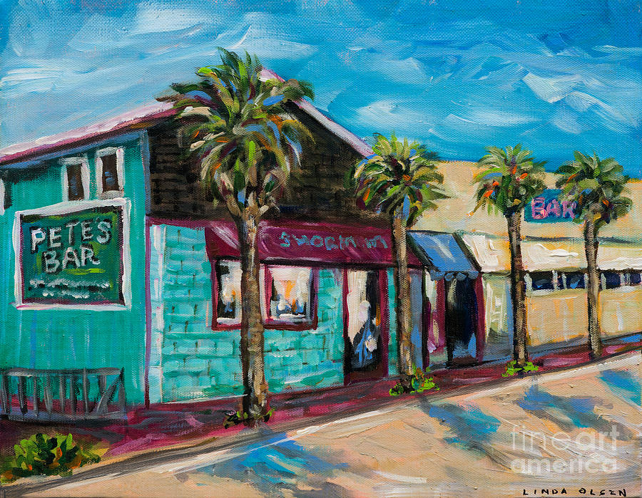 Local Shops Painting - Shorelines by Linda Olsen