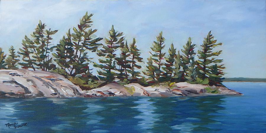 Original Painting - Shores Of Honeymoon Bay by Monica Ironside