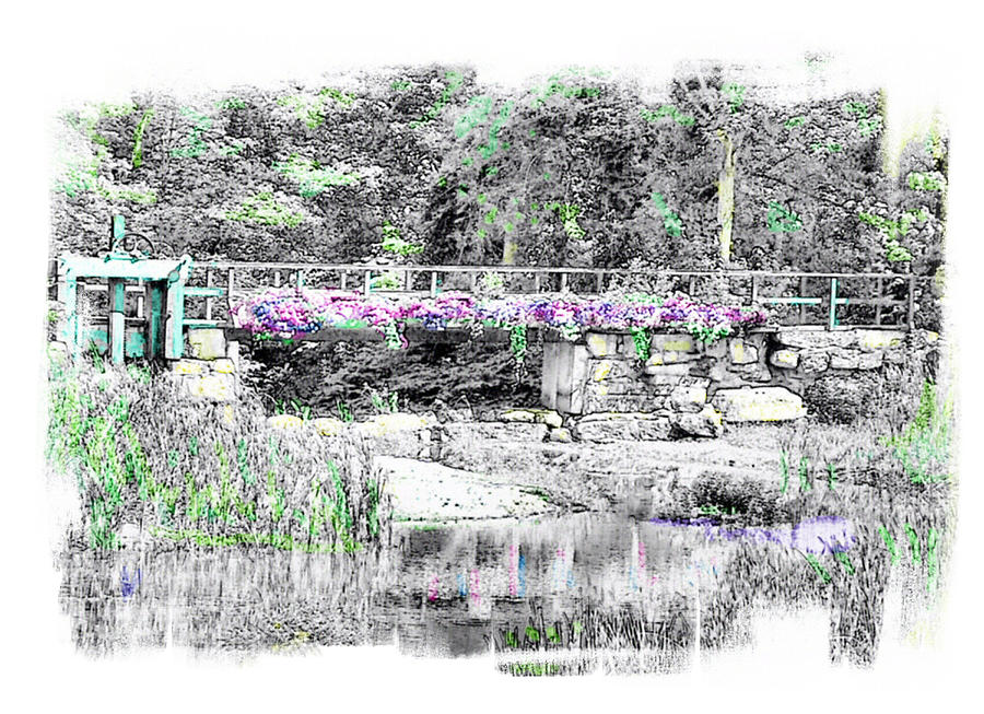 Bridge Photograph - Shorey Park Bridge by Rose Guay