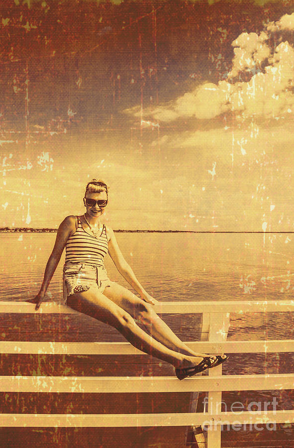 Postcard Photograph - Shorncliffe Pier Pin Up by Jorgo Photography - Wall Art Gallery