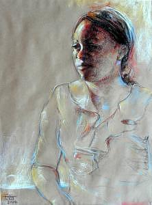 Portrait Painting - Short Break by Tina Siddiqui