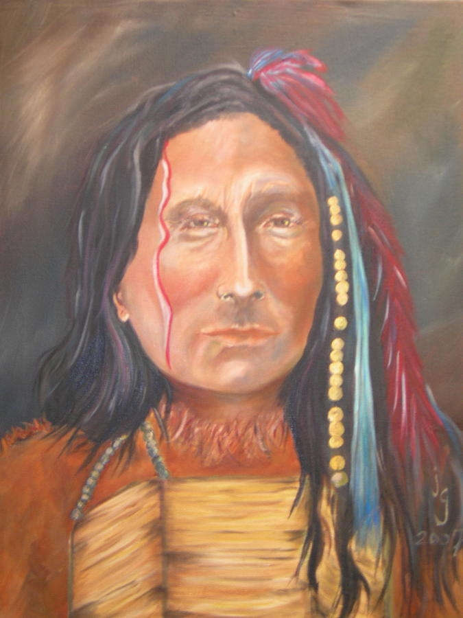 Native American Painting - Short Bull by Judie Giglio