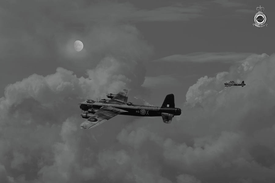 Aircraft Digital Art - Short Stirling - 7 Sqdn Remembered by Pat Speirs