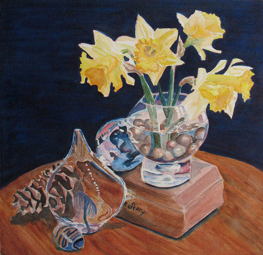 Daffodils Painting - Short Story II by Jenny Armitage