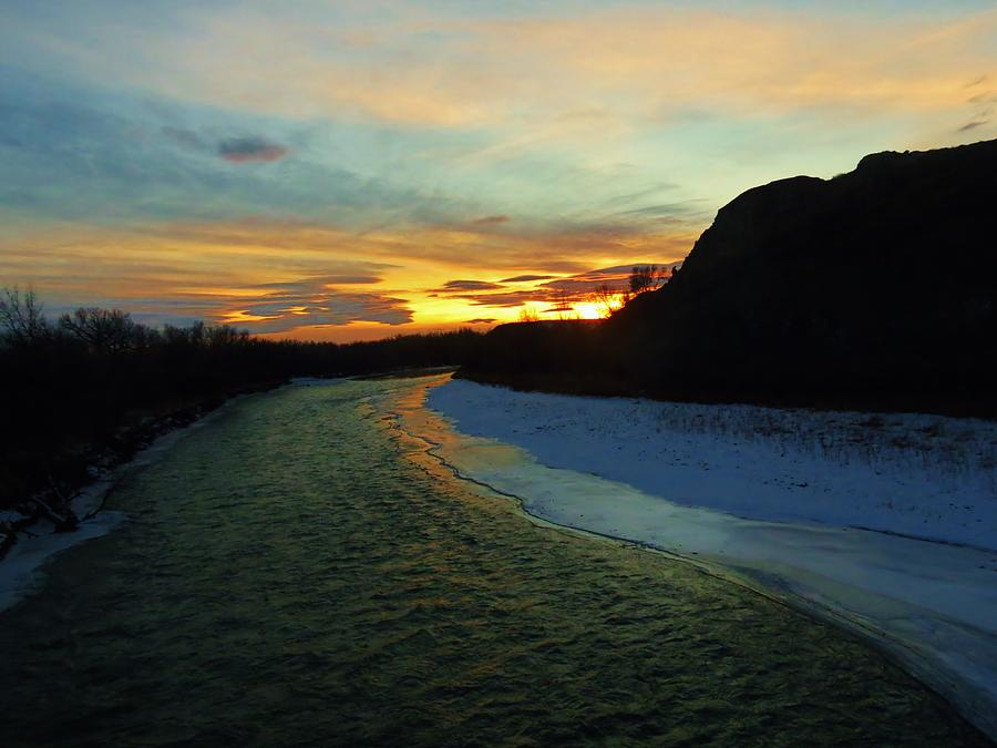Shoshone Photograph - Shoshone River Sunset by George Bannister