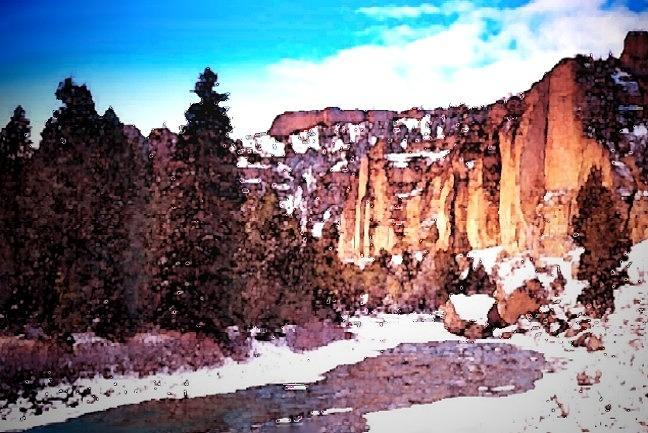 Mountain Painting - Shoshoni River Canyon by Joseph Barani