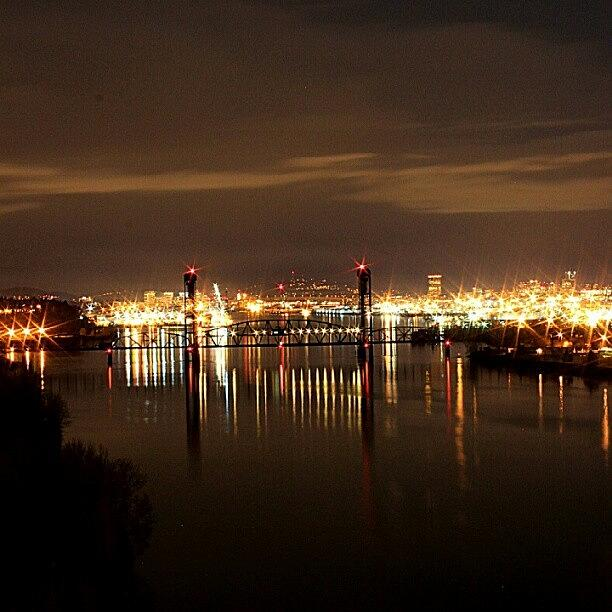 Reflection Photograph - Shot From #st_johns Bridge In #portland by Logan Neet