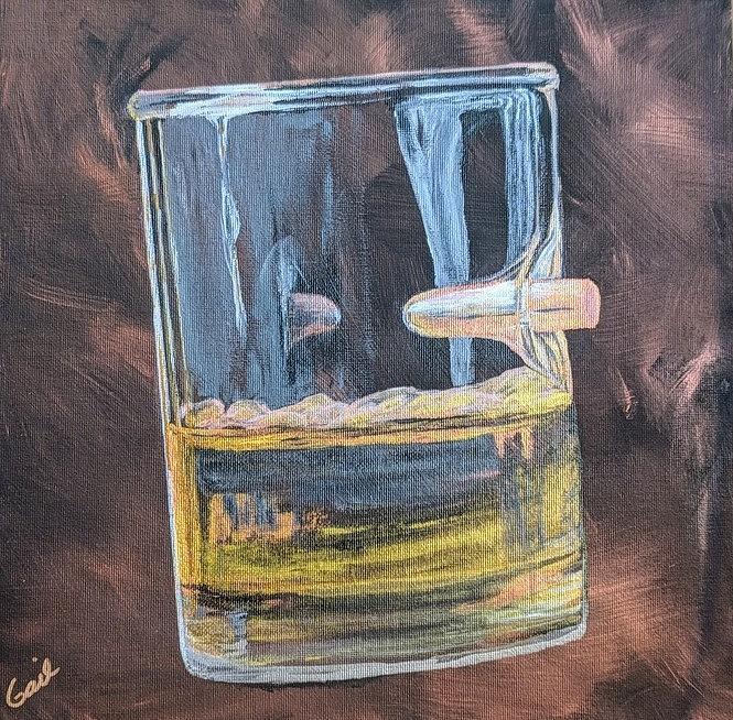 Shot Glass Bullet by Gail Friedman