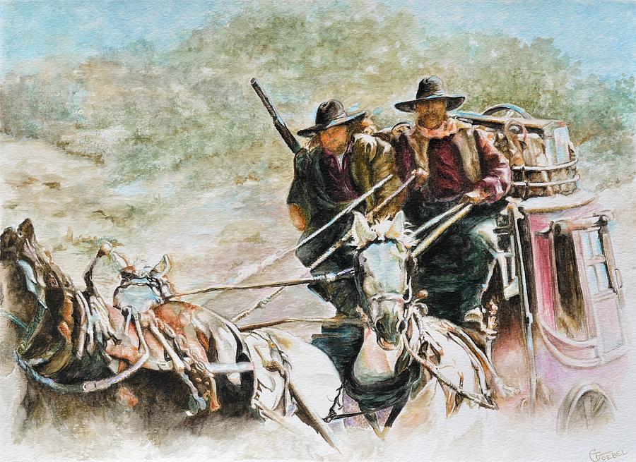 Western Paintings Painting - Shot Gun by Traci Goebel