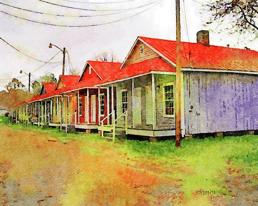 Shotgun Houses Natchez MS by Rebecca Korpita