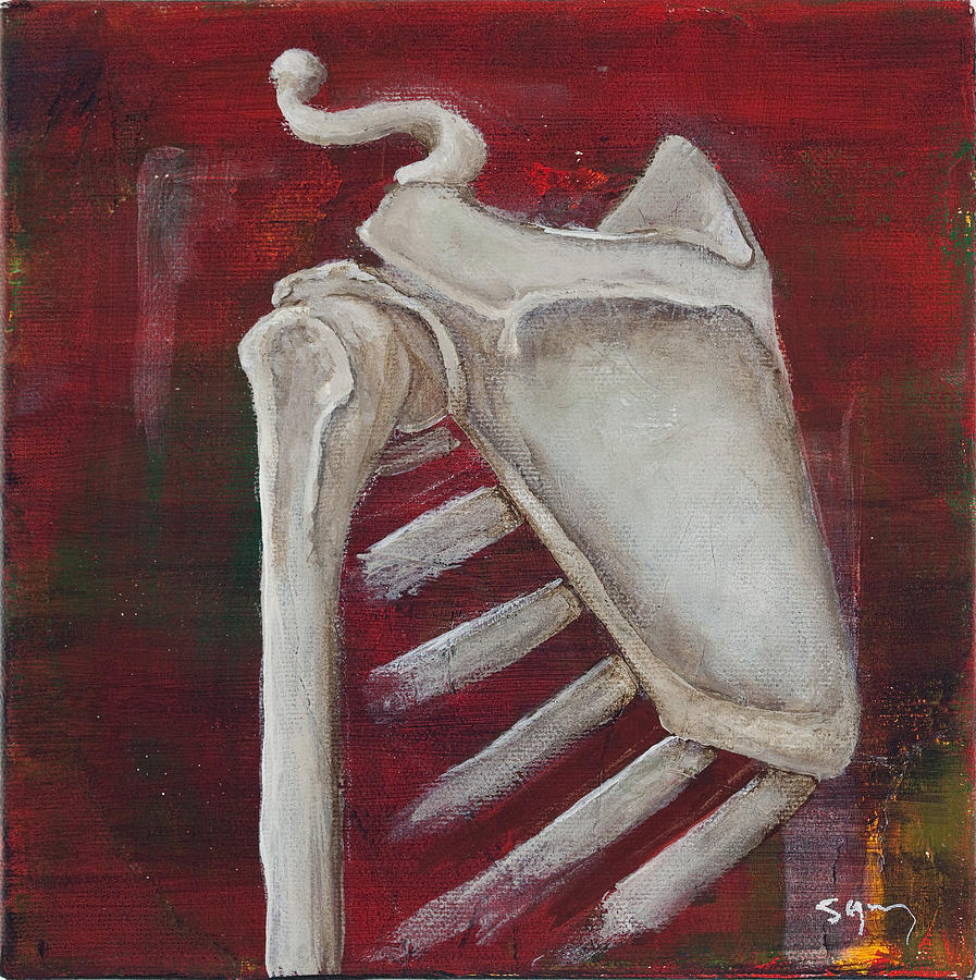 Bones Painting - Shoulder by Sara Young