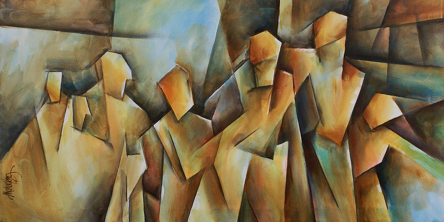 Contemporary Cubism Painting - Show Me by Michael Lang