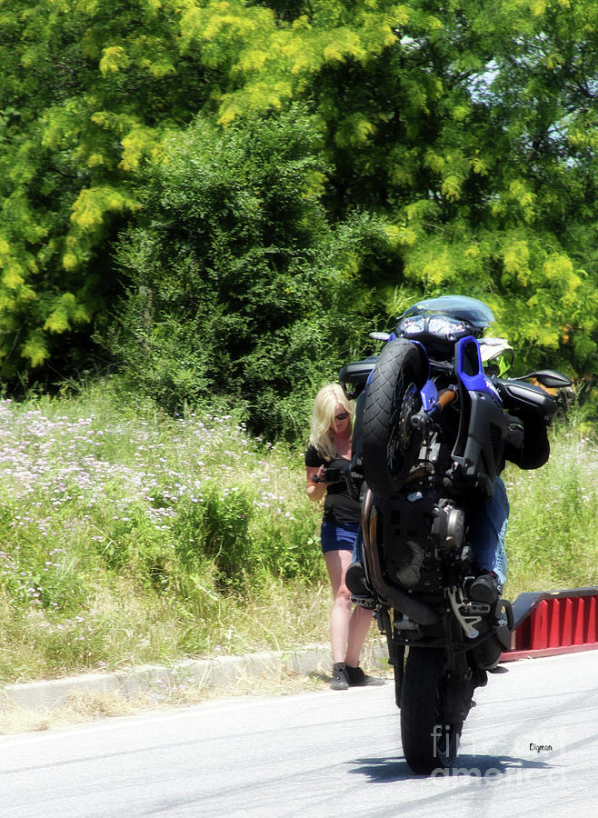 Motorcycles Photograph - Show-off  by Steven Digman