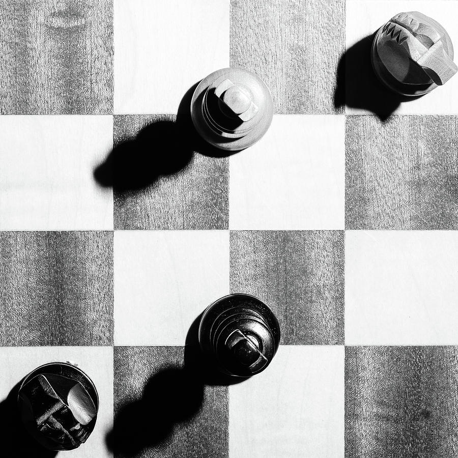 Chess Photograph - Showdown at high noon by Kolbein Svensson