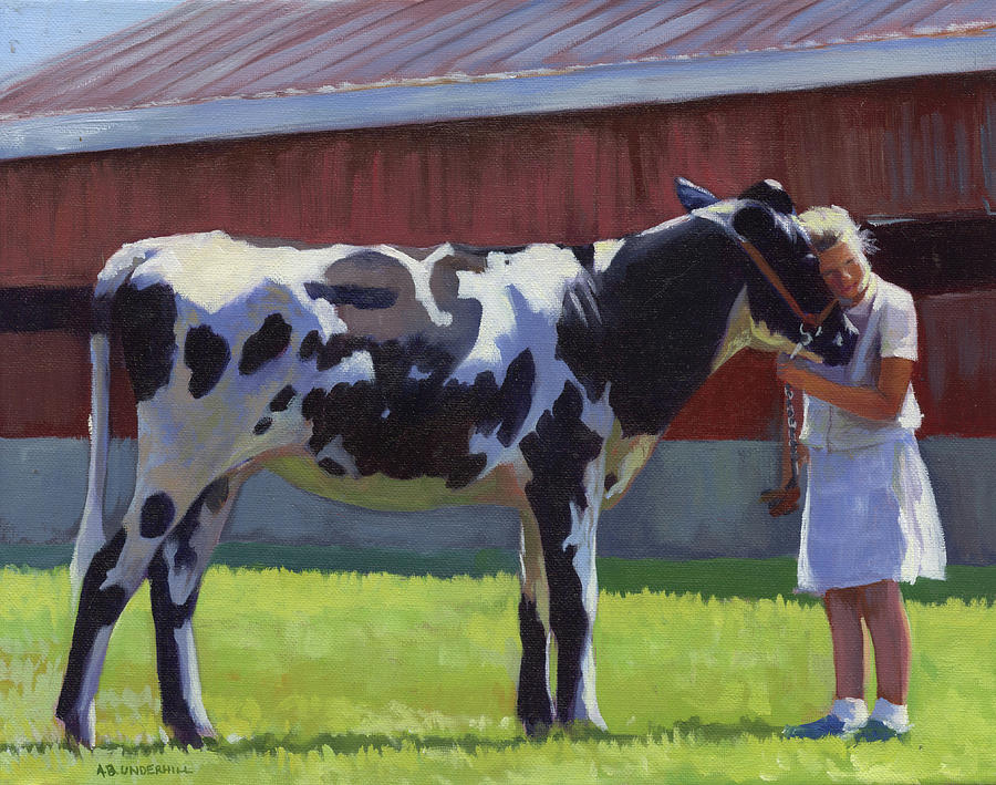 Holstein Painting - Showing The Heifer by Alecia Underhill