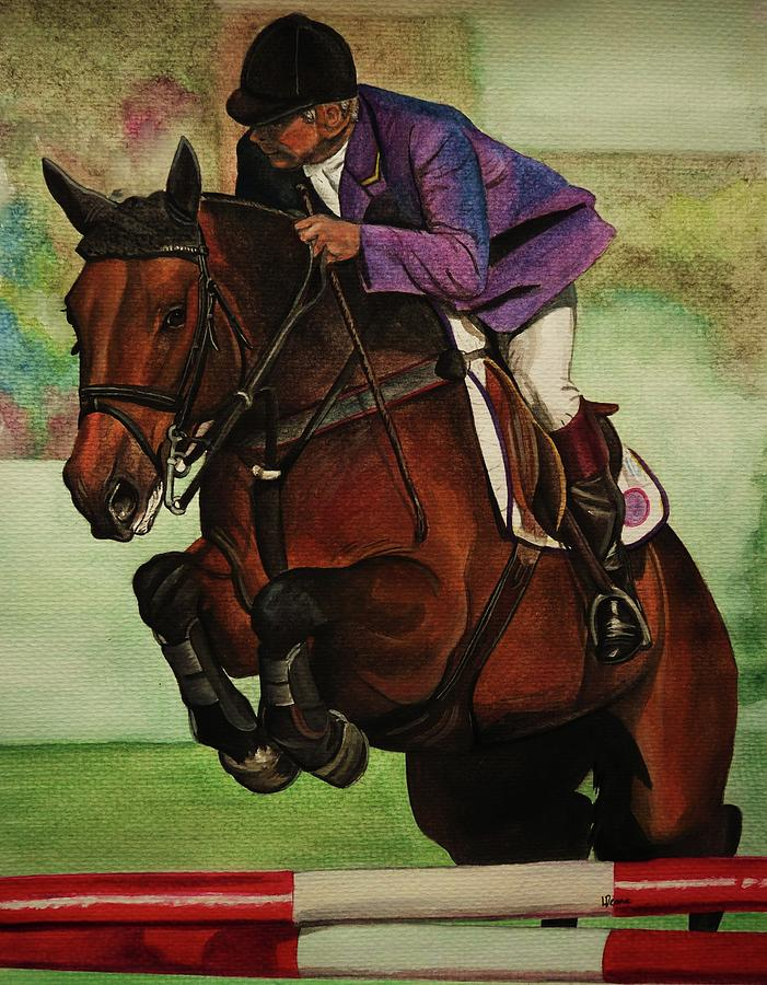 Showjumping Painting - Showjumping by Lucy Deane