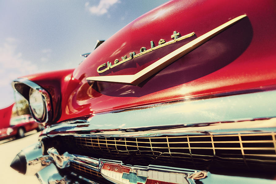 Classic Car Photograph - Showy Oldie by Caitlyn  Grasso