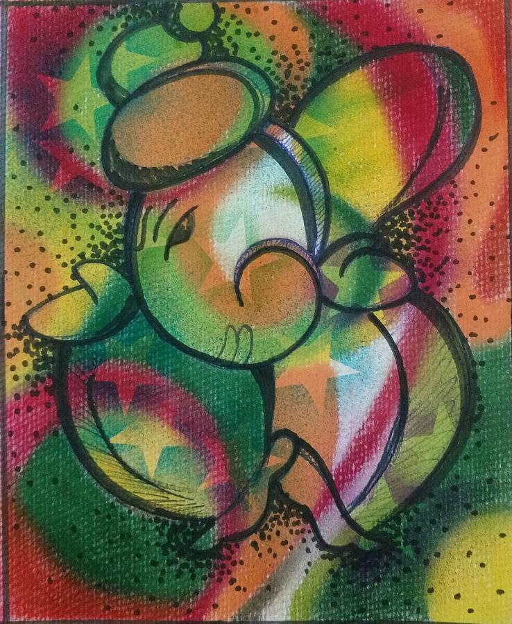 Ganpati Painting - Shree Ganesh  by Tej A
