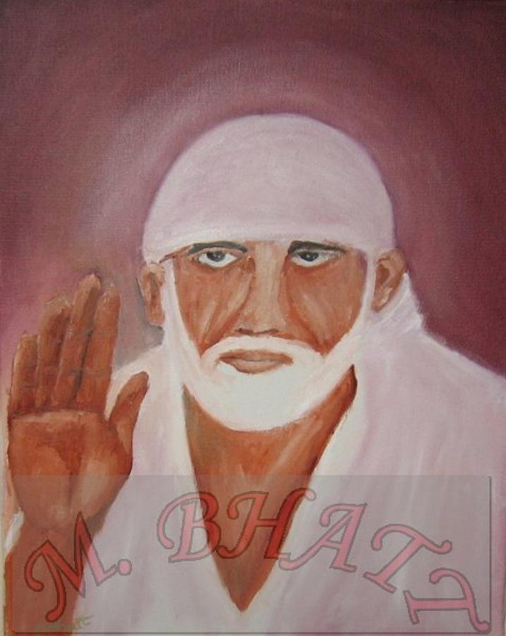 Sai Baba Mixed Media - Shree Saibaba by M bhatt