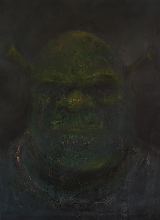 Mike Myers Painting - Shrek by Antonio Ortiz