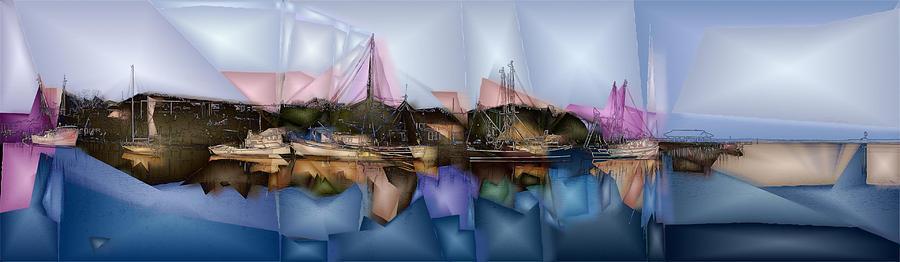 Artwork Digital Art - Shremp Creek Fishing by Jon Glaser