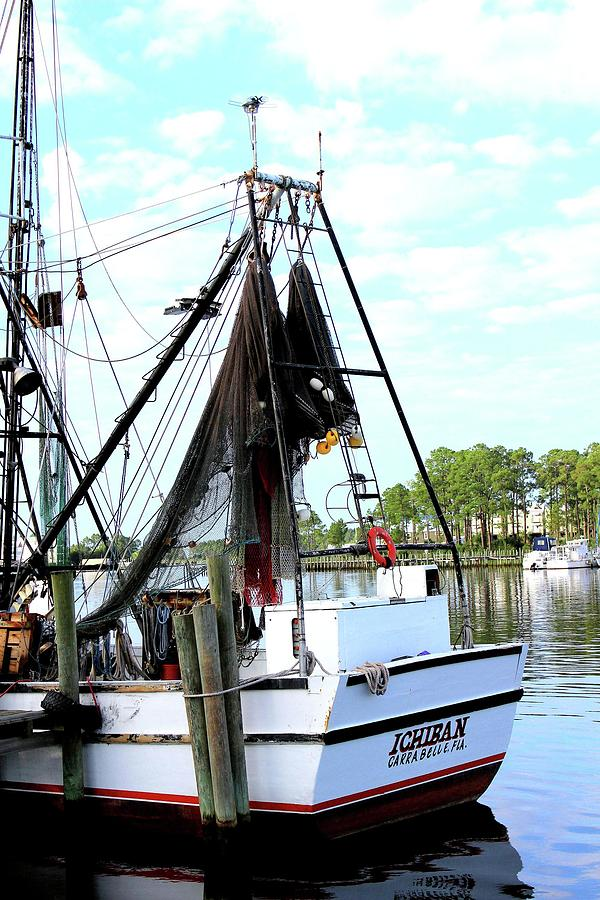 Sea Photograph - Shrimp Boat by Annette Allman