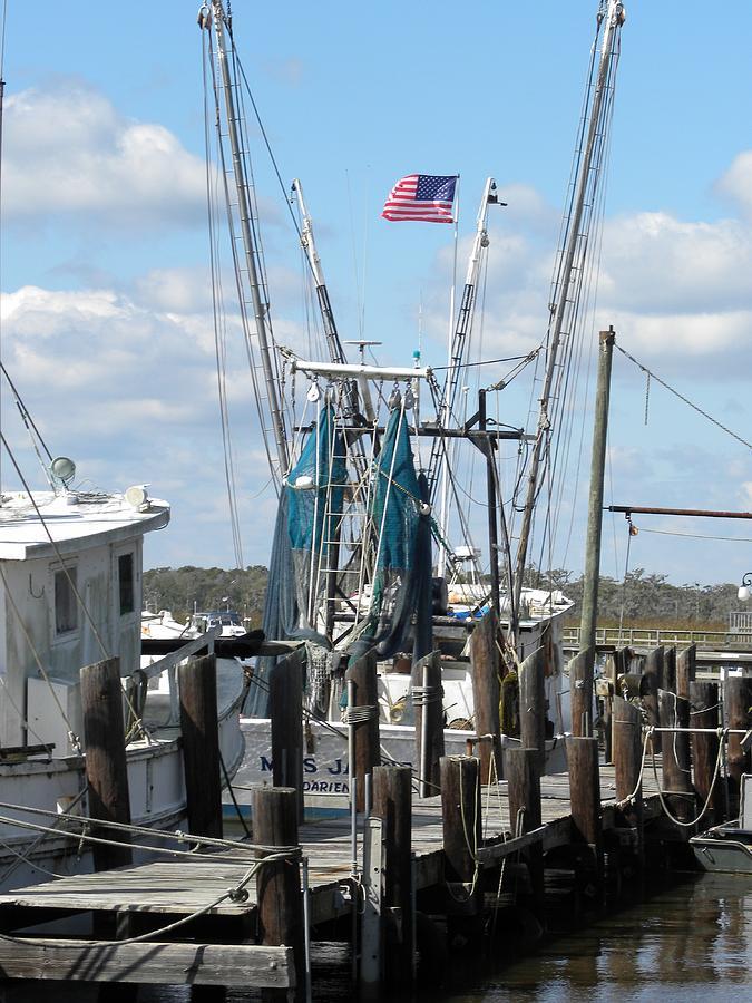 Shrimp Boats Photograph - Shrimp Boat by Kim Zwick