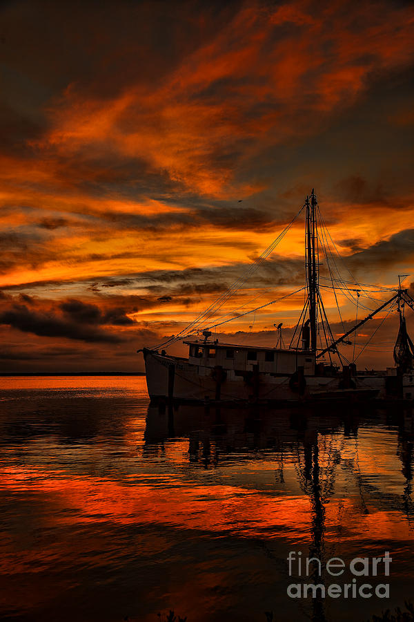 Shrimp Boat Sunset by Dave Bosse