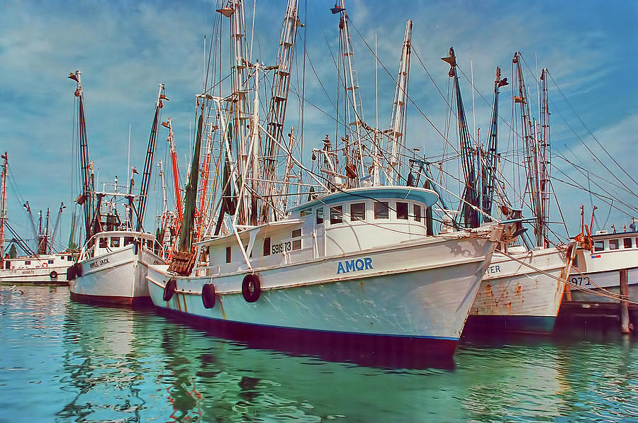 Shrimp Boats At Fort Myers Beach Florida
