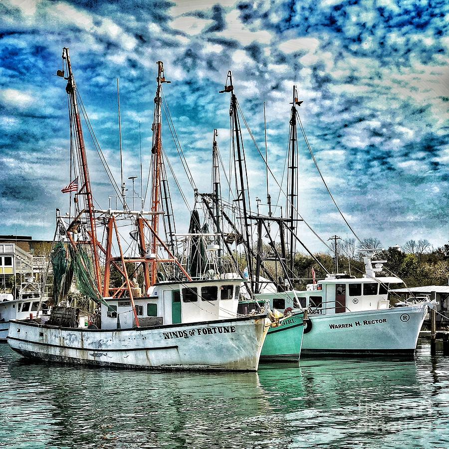 Shrimp Boats by Donald Paczynski